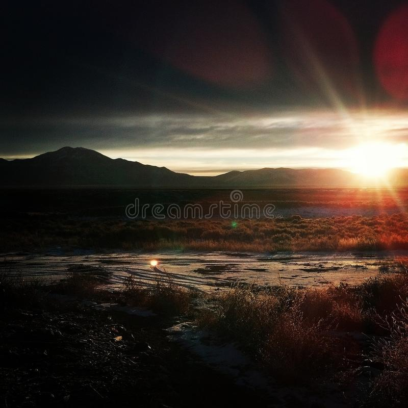 Download New Mexico Sunset stock image. Image of casting, sunset - 83710317