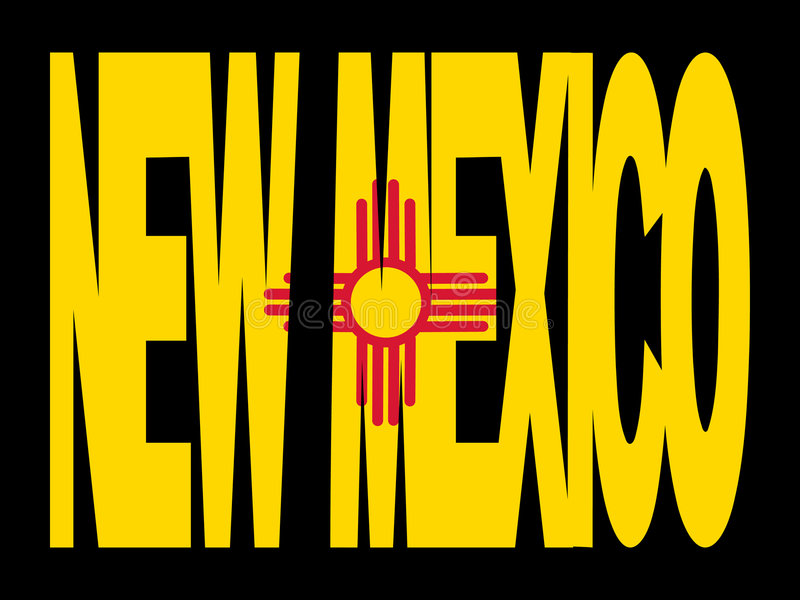 Download New Mexico text with flag stock vector. Illustration of outline - 4098222