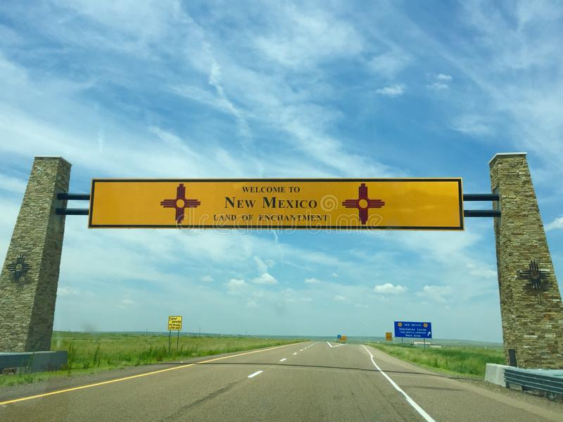 New Mexico. Welcome to New Mexico sign stock photo