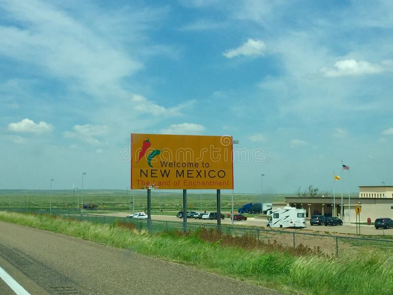 New Mexico. Welcome to New Mexico sign royalty free stock images