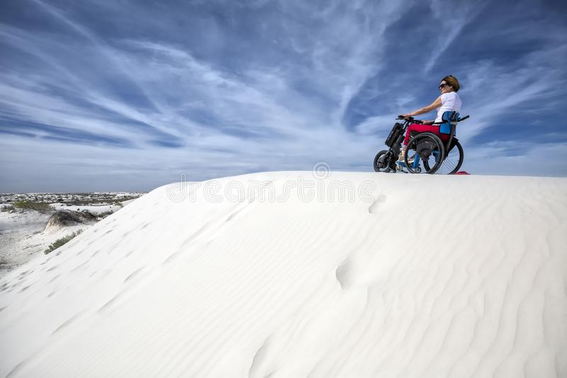 New Mexico - The white sands. A white desert of gypsium royalty free stock photo