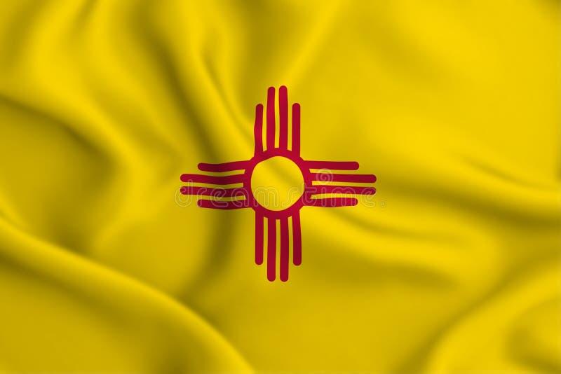 New-Mexiko Flaggenillustration lizenzfreie abbildung