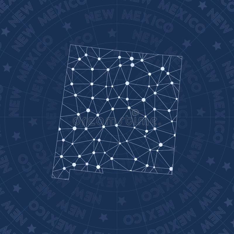 New Mexiko-Netz, Konstellationsartus-staat vektor abbildung