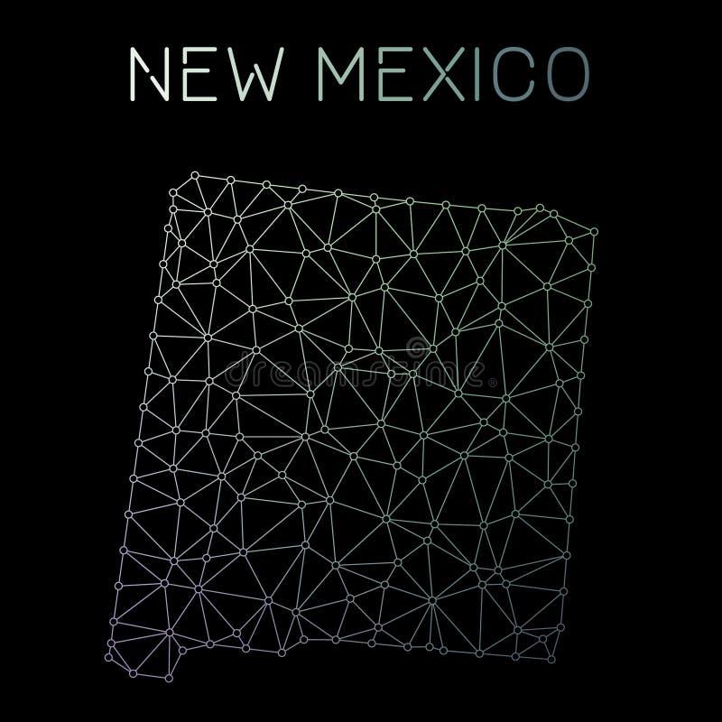 New Mexiko-Netzkarte vektor abbildung