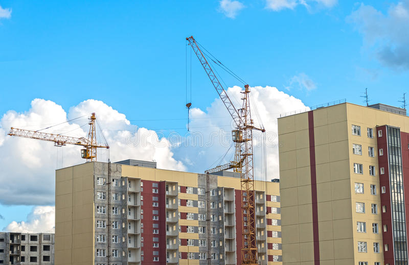 New microdistrict buildings. royalty free stock photos