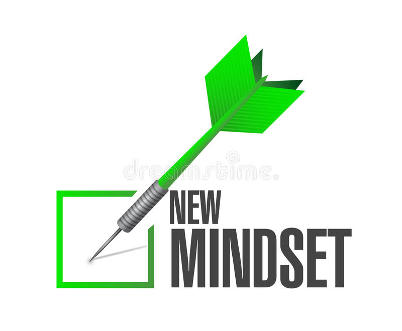 new mindset dart check mark illustration design royalty free stock image