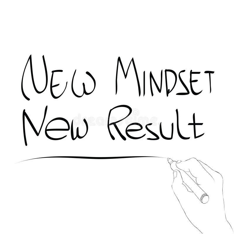 New mindset new result. Vector illustration of new mindset new result stock illustration