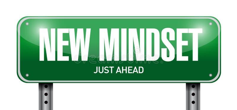 New mindset street sign illustration design. Over a white background vector illustration