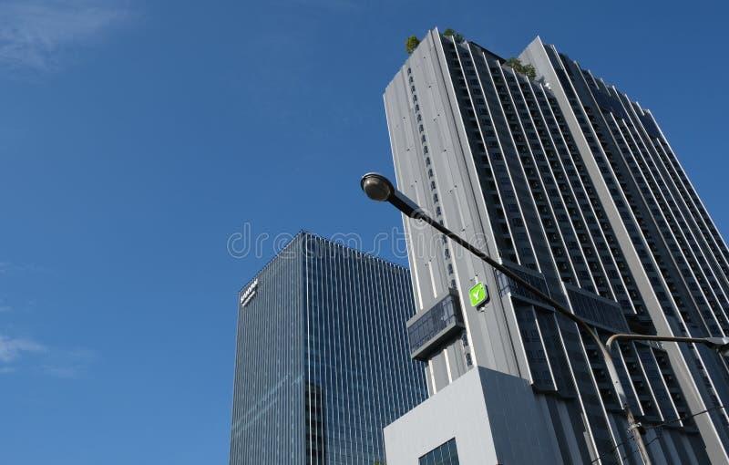 View of mix-used development Samyan Mitrtown stock photography