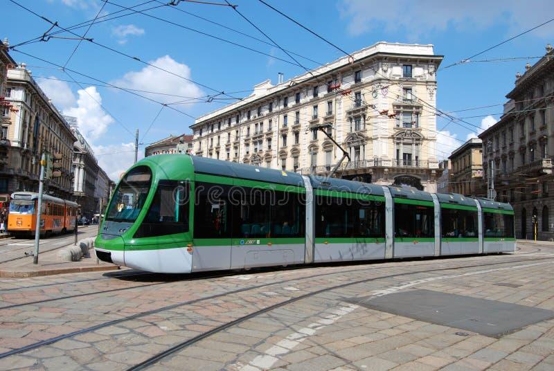 New Model Tram (tramcar, Trolley) In Milan Stock Photos
