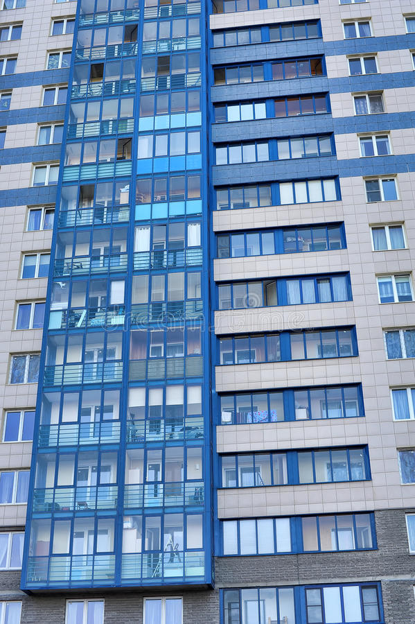 modern apartment building facade. Download The New Modern Apartment Building Stock Image  34618781
