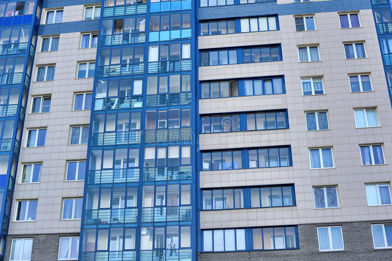 Download The New Modern Apartment Building Stock Photo   Image Of Glass,  Blue: 34618884