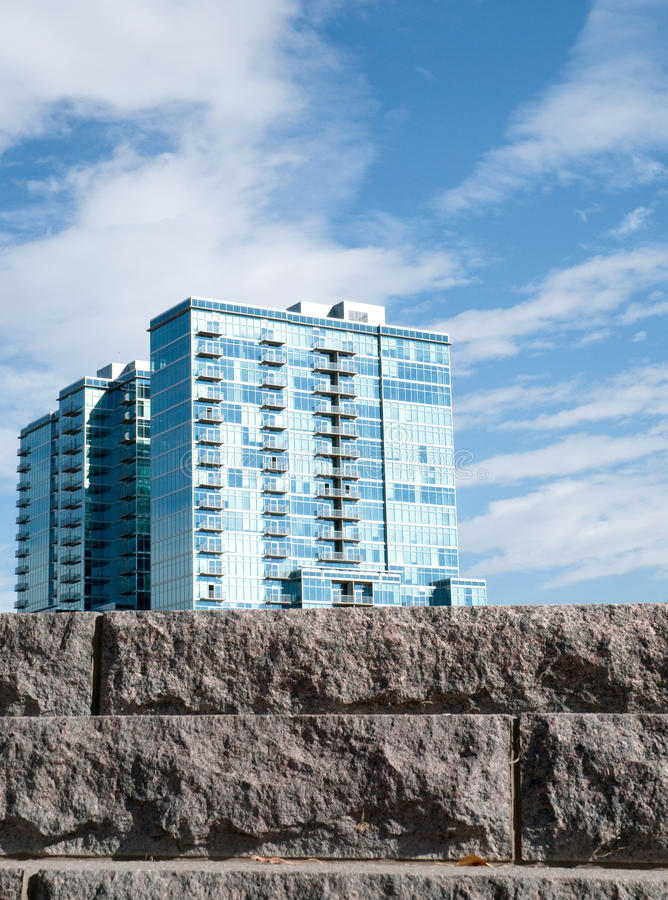 New modern apartments royalty free stock photos
