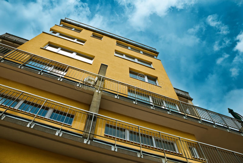 New modern apartments. In front of blue sky stock photography