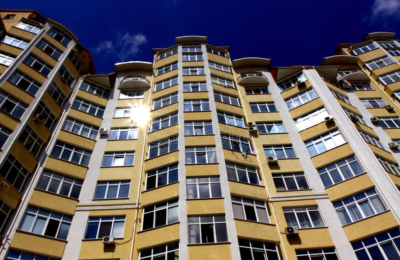 Download New modern apartments stock image. Image of glass, domicile - 20911007