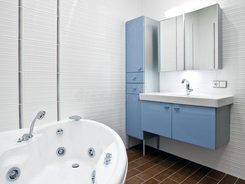 New modern bathroom stock photo