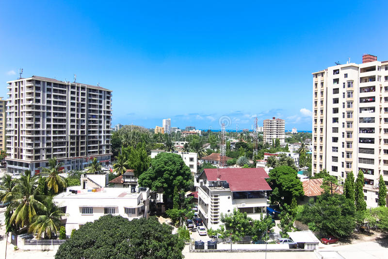 New modern buildings in Dar-es-Salaam, Africa. Panoramic view royalty free stock photos