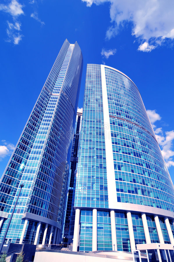 New modern business centre royalty free stock image