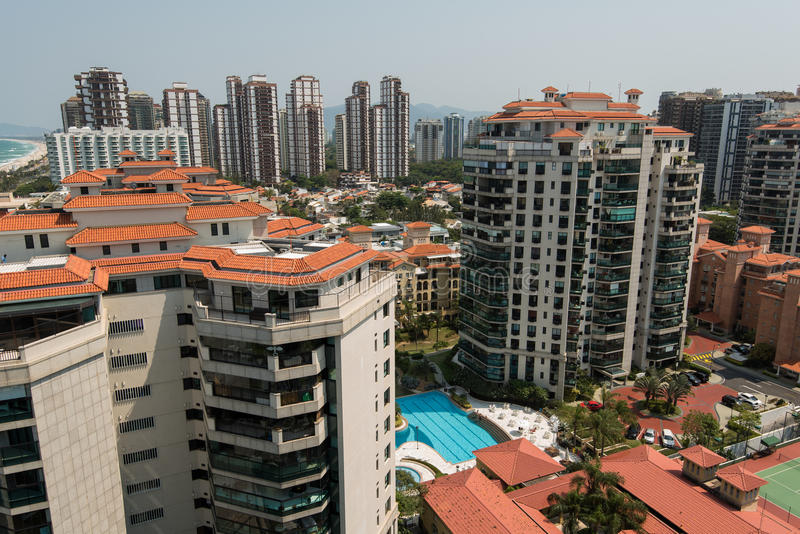 New Modern Condominium Buildings in Rio de Janeiro royalty free stock photo