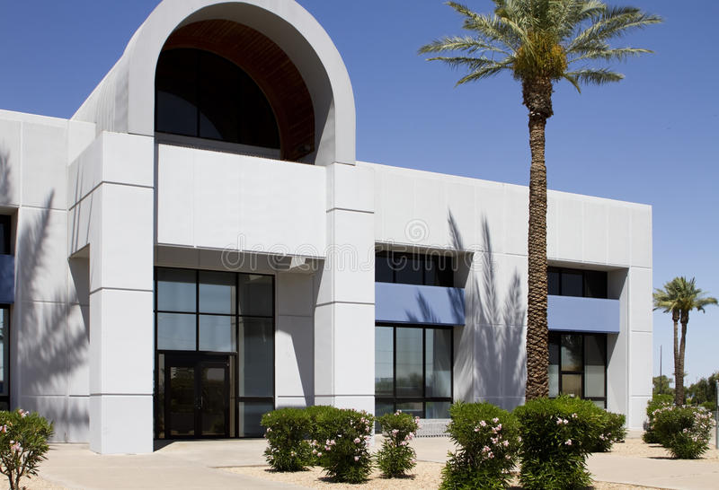 New modern corporate office building entrance stock photo