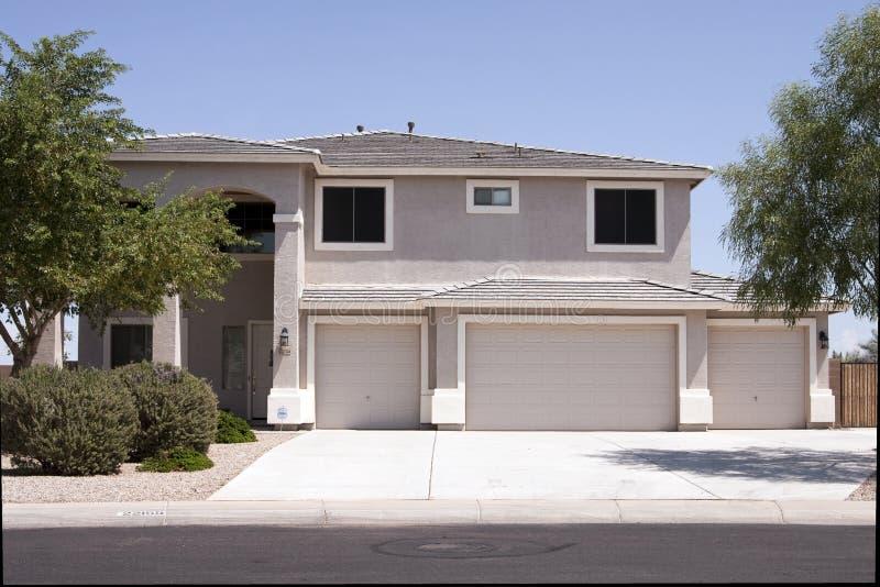 New Modern Desert Home stock photography