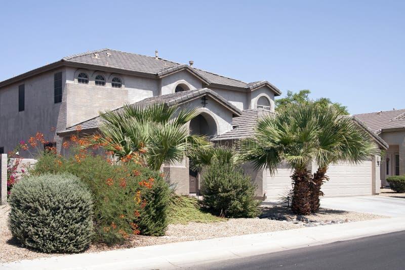 New Modern Desert Home royalty free stock image