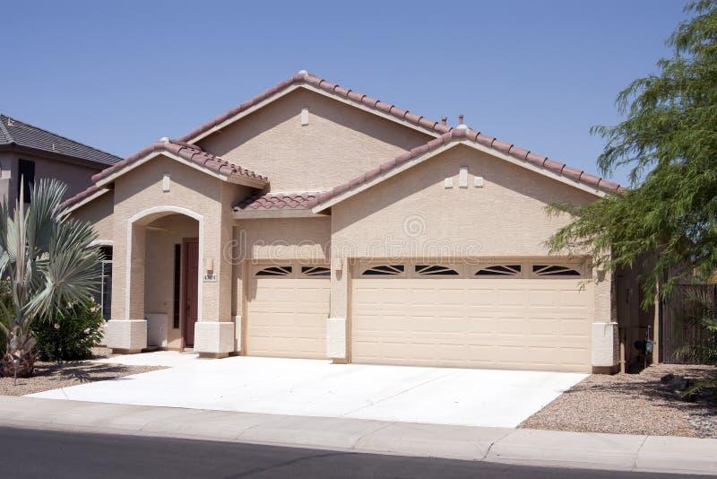 New Modern Desert Home stock photos