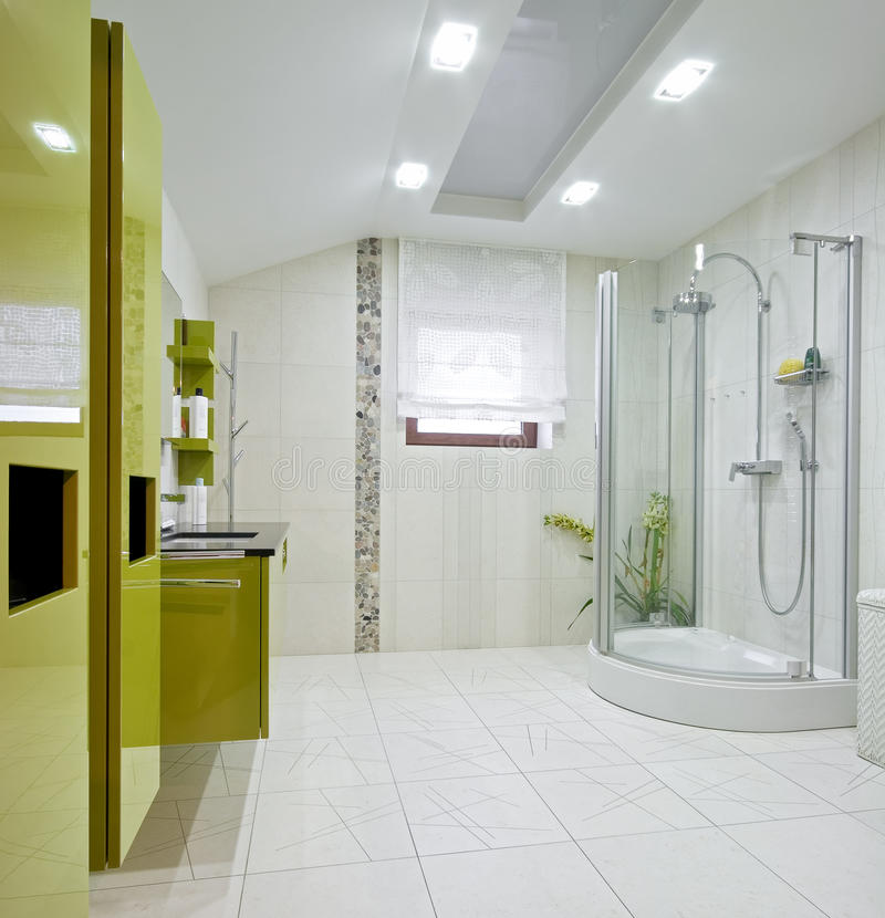 New modern domestic room. Interior of a new modern domestic room stock photography