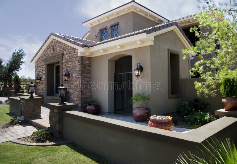 New Modern Home Architecture royalty free stock image