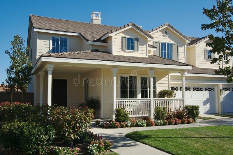 New Modern Home Facade stock image