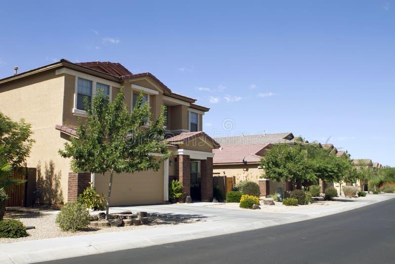 New Modern Home Neighborhood royalty free stock image