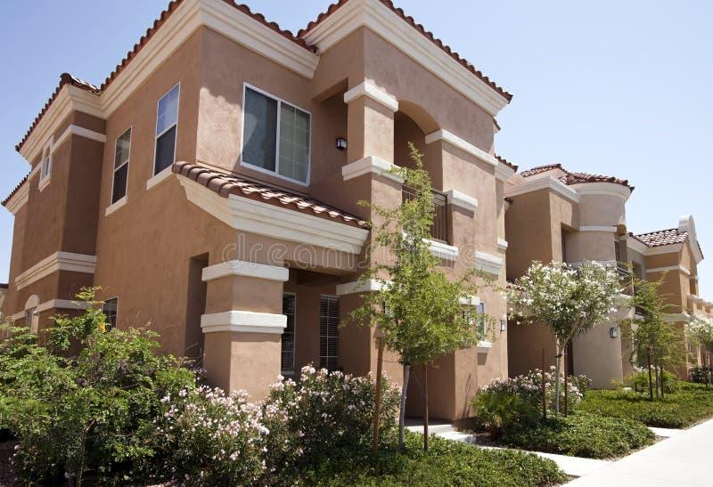 New modern homes in the Arizona desert stock photo