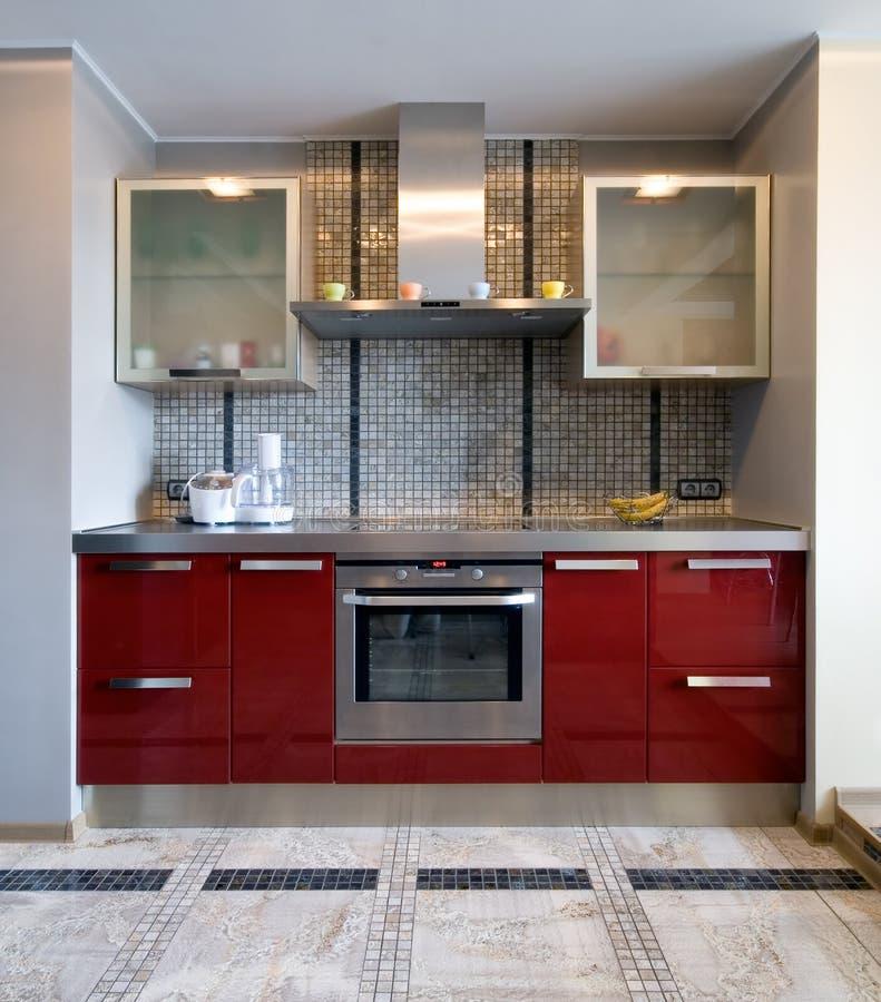 New modern kitchen. Interior of a new modern kitchen stock images