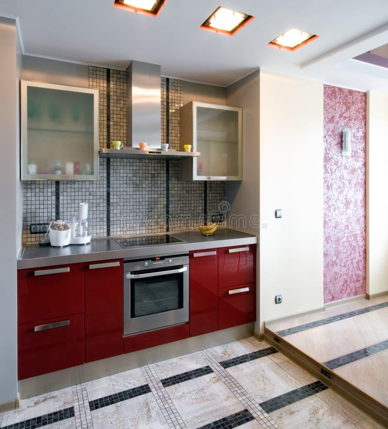 New modern kitchen. Interior of a new modern kitchen royalty free stock photo