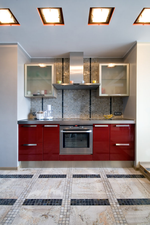 New modern kitchen. Interior of a new modern kitchen stock photo