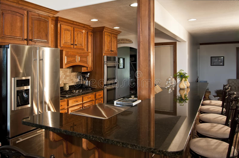New Modern Kitchen Remodel royalty free stock image