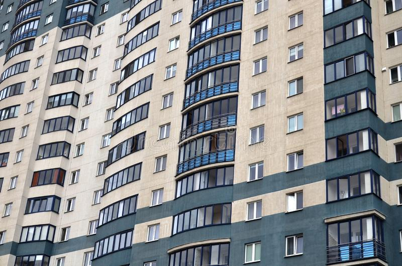 New modern multi-storey residential complex. Belarus stock photography