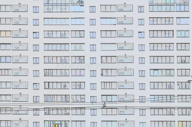 New modern multi-storey residential complex. Belarus royalty free stock photo