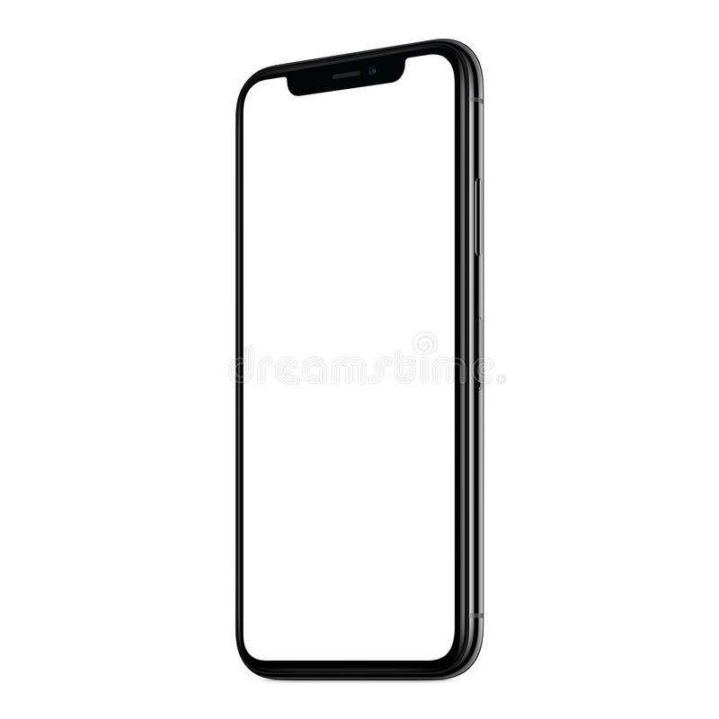 Iphone X New Modern Frameless Smartphone Mockup With White