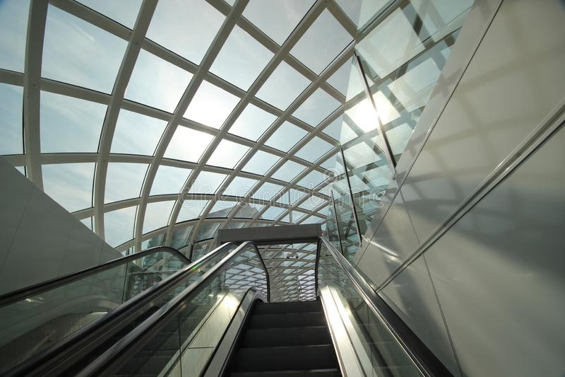 New modern subway station of metro randstadrail line E in The Hague at the central station. Where Den Haag and Rotterdam are now also via light rail connected royalty free stock photos