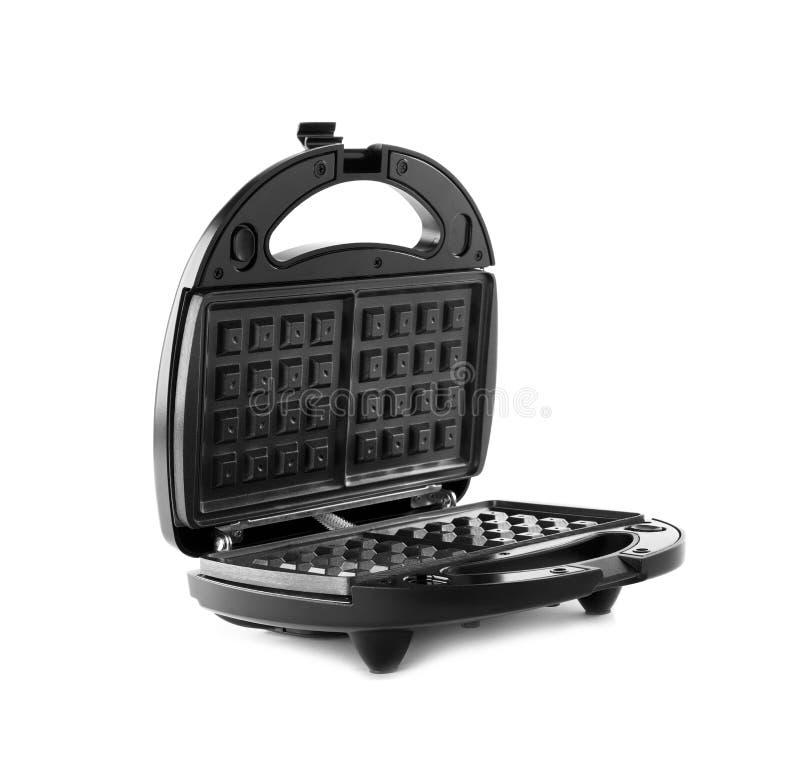 New modern waffle iron isolated on white. New modern waffle iron isolated stock photos