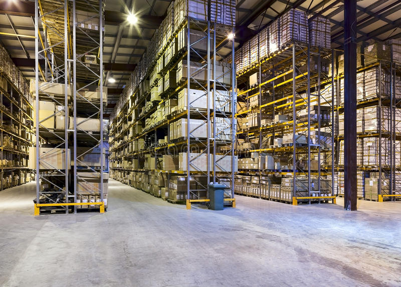 Download New and modern warehouse stock photo. Image of room, packaging - 32091616