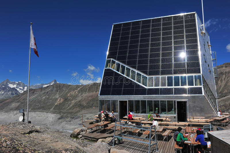 Download New Monte Rosa Hut editorial stock image. Image of modules - 26155629