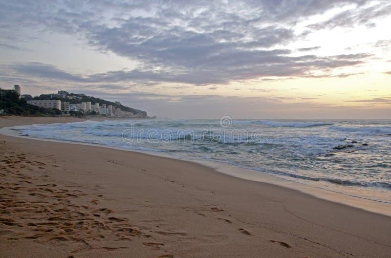 New Morning an Umdloti-Strand, Durban Südafrika lizenzfreies stockfoto