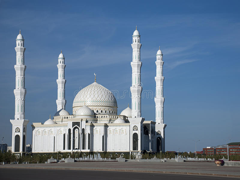 Download New Mosque of Astana stock image. Image of colorful, cloud - 27165063