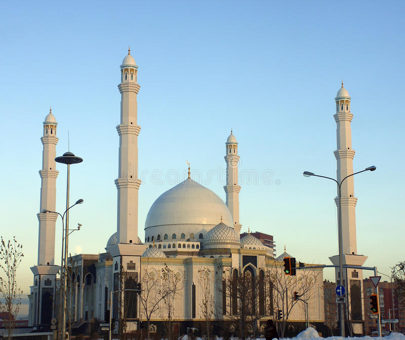 New mosque in Astana, opened in 2011 stock photos
