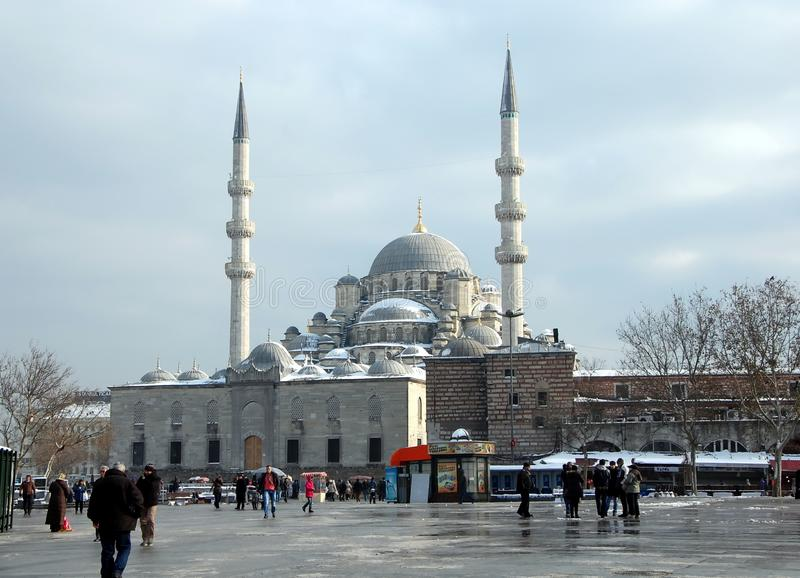 New Mosque in Istanbul. ISTANBUL, TURKEY - JAN 9, 2013 - New Mosque Yeni Cami in Eminonu district, Istanbul, Turkey stock images