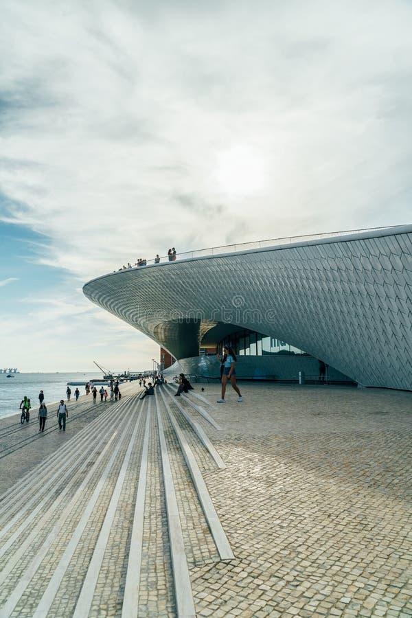 The New Museum Of Art, Architecture and Technology Museu de Arte, Arquitetura e Tecnologia Or MAAT stock photo