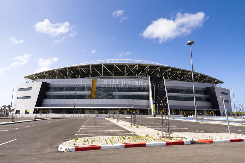 The New Natanya football stadium. The new football stadium in Nenatnya that will host the UEFA 2013 under 21 championship in 5th of June in Israel with England stock photography