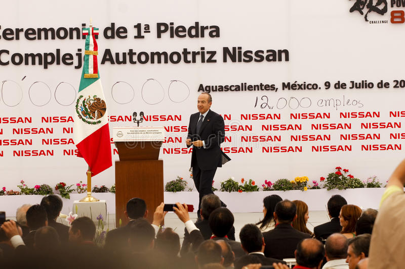 New Nissan car plant in Mexico stock images